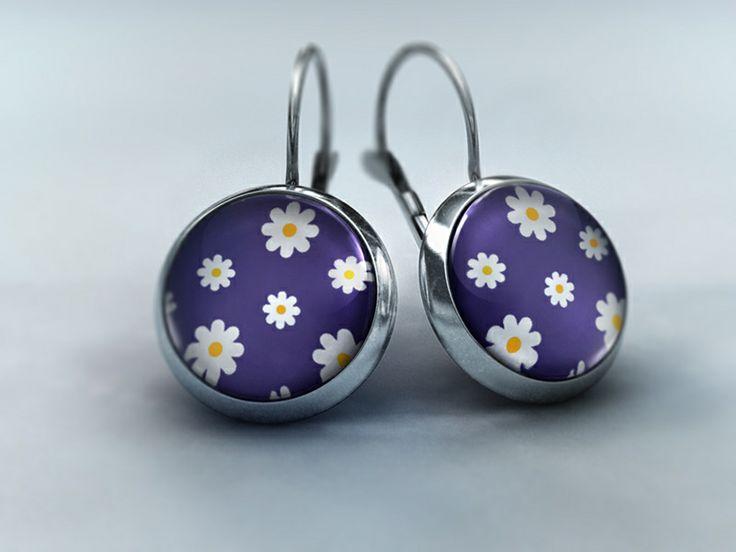 Ohrhänger - Blütenzauber Violett von Schmuckkauz auf DaWanda.com