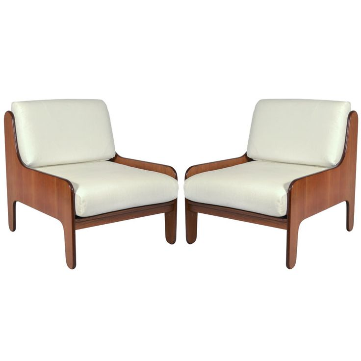 Perfect Pair Marco Zanuso Lounge Chairs