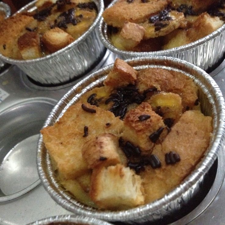 Homemade Banana Chocolate Bread Pudding