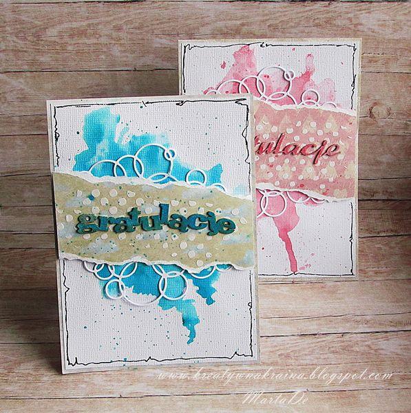 Kreatywna Kraina: Karty gratulacyjne / Congratulation Cards - DT Piątek 13-tego.
