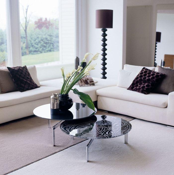 19 Wohnzimmer ideen schwarzes sofa