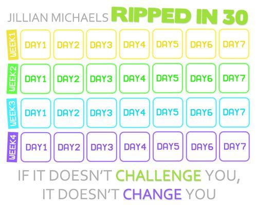 Jillian Michaels Ripped In 30 Schedule Jillian michae.