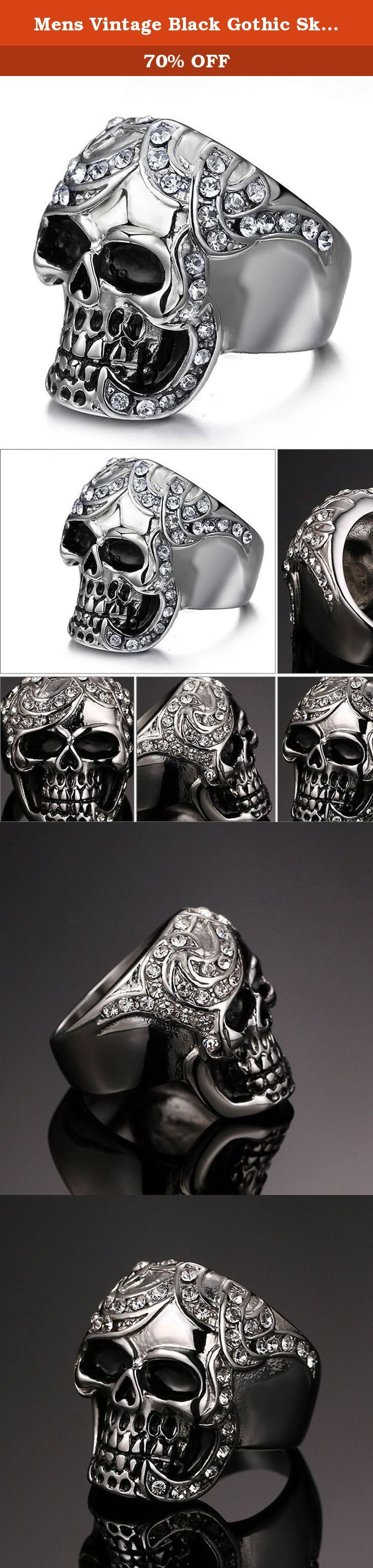 Mens Vintage Black Gothic Skull Rings 316L Stainless Steel Heavy Metal Rock Punk Biker Bands High Polished Size 9. SAINTHERO Stainless steel's resistance to corrosion and staining, low maintenance and familiar lustre make it an ideal material for many applications. There are over 150 grades of stainless steel, of which fifteen are most commonly used. Stainless steel is used for jewelry and watches with 316L being the type commonly used for such applications. It can be re-finished by any...