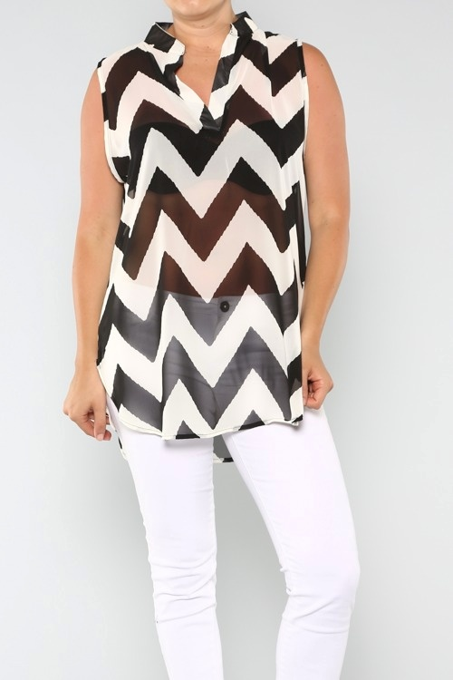 Black and White Chrvon Missoni Top 1x, 2x, 3x. $44.00. Use coupon code: pin10 for 10% off your first purchase on www.blondellamydean.com