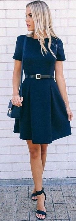 #fall #work #outfits | Black 'Want It All' Dress