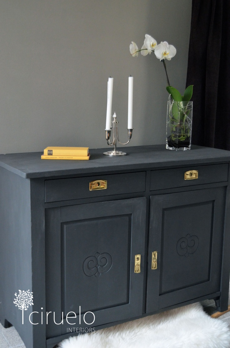 Annie sloan chalk paint bathroom cabinets - Annie Sloan Graphite 3 Coats Graphite Chalk Paintannie