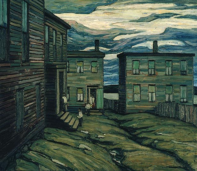 """Black Court, Halifax,"" Lawren S. Harris, 1921, oil on canvas, 38.22 x 44.09"", National Gallery of Canada."