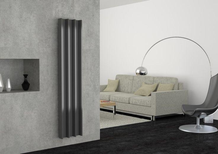 Darredo Design-Heizkörper von Caleido im Wohnzimmer