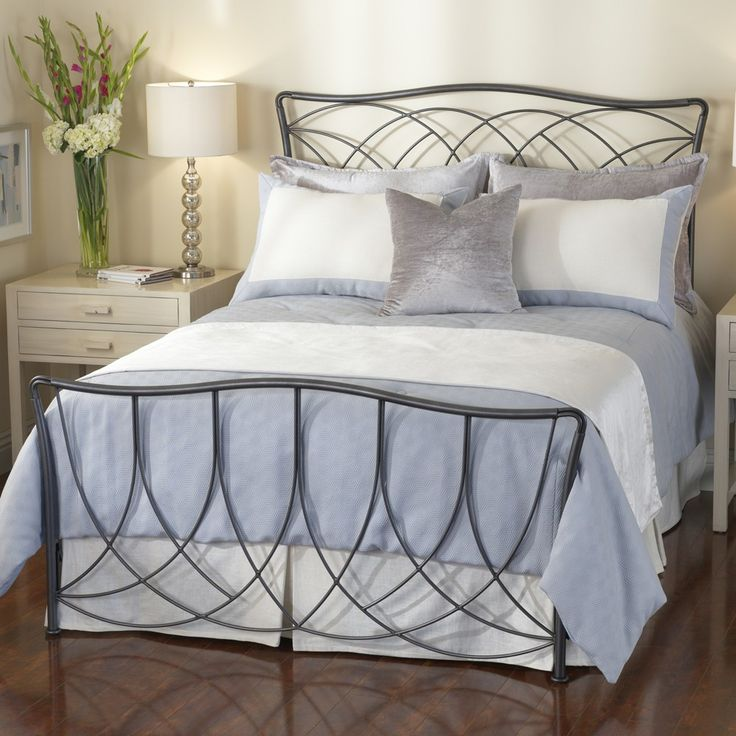 The Marin Iron Bed By Wesley Allen Illustrates How Super Sturdy Iron Beds Can Be Softened