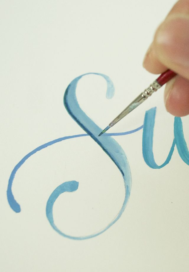 alisaburke: lettering with makewells: painting letters Includes link to list of blog posts of lettering with makewells, which has several helpful tutorials.