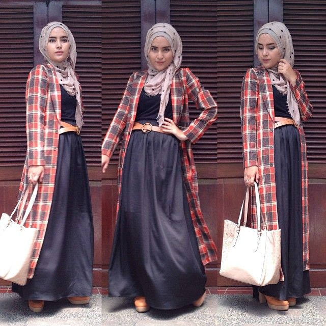tartan long coat....cool... #favorite