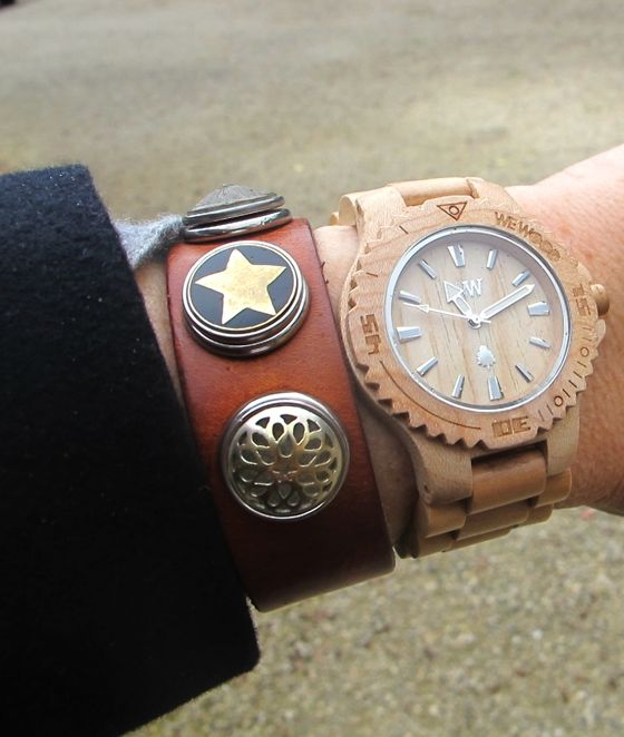 Noosa Amsterdam cuff | We Wood Watch... Hmm would love both! Love the Noosa Amsterdam cuff in tan, would get some turquoise stones to go in it!