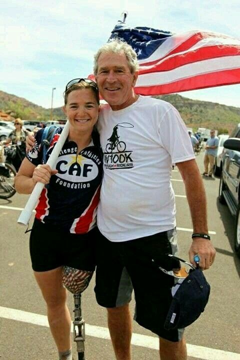 George W. Bush at Wounded Warriors fundraiser 2013