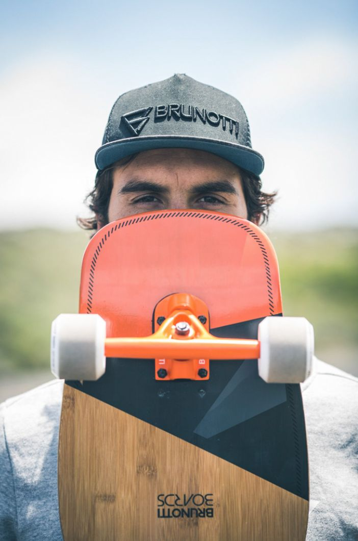 Brett Burcher - #GetonBoard Brunotti all boardsports 16 campaign - bamboo stick longboard rap.brunotti.com
