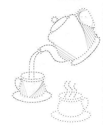 Kanne und Tassen: