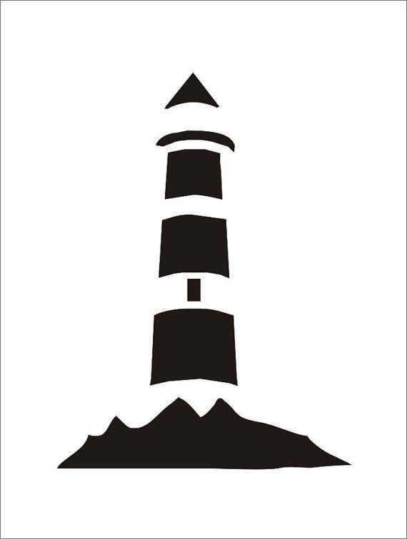 Faro  plantilla  5 tamaños disponibles-crear por SuperiorStencils