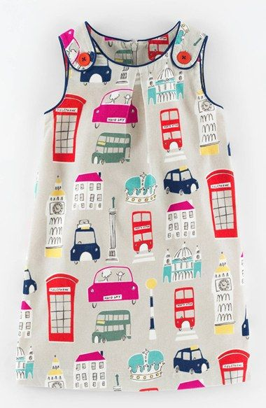 Mini Boden Button Pinafore Dress (Toddler Girls, Little Girls & Big Girls) available at #Nordstrom