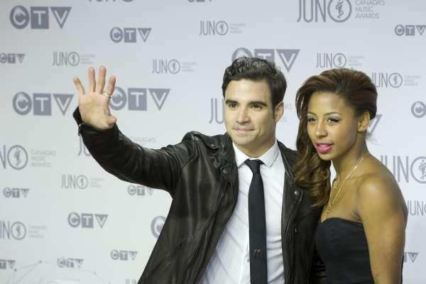 Jennifer Abel and Alexandre Despatie arrives on the red carpet at Scotiabank Place in Ottawa for the 2012 Juno Awards April 1 , 2012.  Photograph by: Chris Mikula, Ottawa Citizen