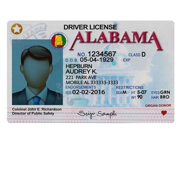 Fake Template Drivers License Templates Alabama