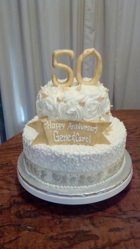 50th anniversary wedding cakes 50th wedding anniversary cake weddings 1134