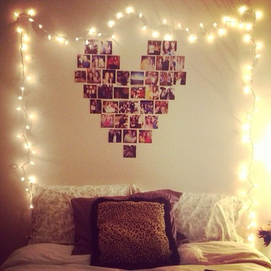 String Lights In Bedroom: Best 25+ Heart Picture Collages Ideas On Pinterest