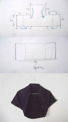 DIY Square Bolero Tutorial [http://annekata.com/2011/03/square-bolero/]