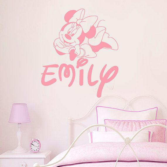 Minnie Mouse Wall Decal Personalized Name Girl By AmazingDecalsArt
