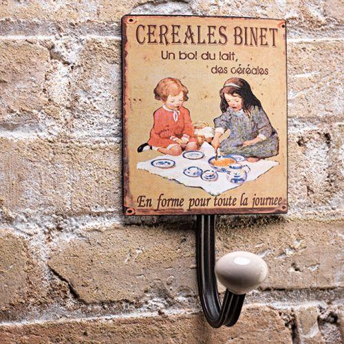 Perchero pared ni a cereales binet perchero met lico y - Perchero pared infantil ...
