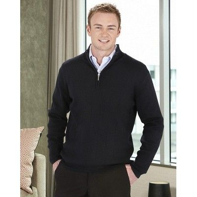 Mens Half Zip Pullover Min 25 - 80/20 Wool Acrylic, Needle Out Knit Fabric. http://www.promosxchange.com.au/mens-half-pullover/p-11057.html