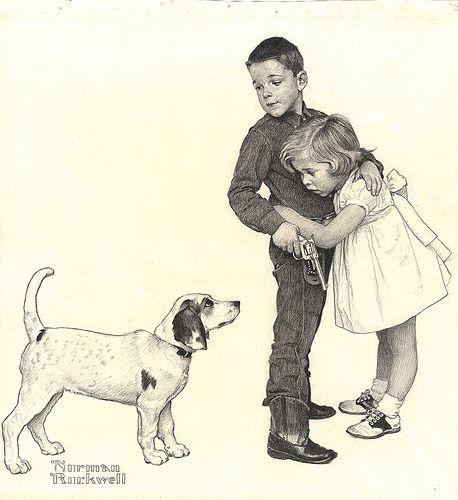 "Juvenile-Cowboy | ""Juvenile Cowboy"", Norman Rockwell, 1960 A… | Flickr"