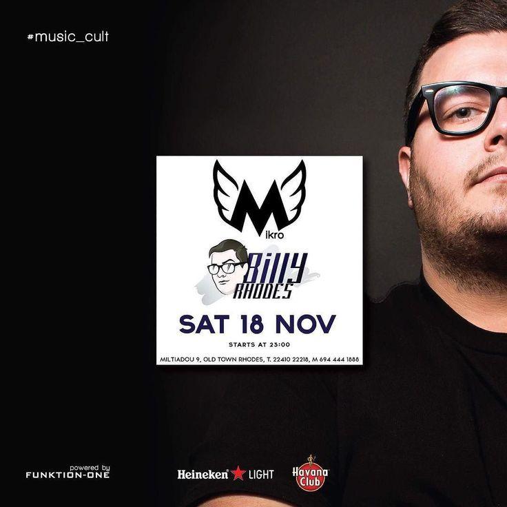@mikro_bar #saturday 18 November #on  #oldtown #rodos #lovemyjob #entertainer #music_cult #musik_on #music #dance #deep #tech #electronic #dj #djs #djlife #electronica #house #housemusic #rhodes #faliraki #lindos