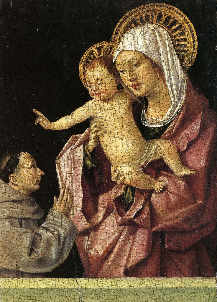 Antonello da Messina, Madonna and Child with a Praying Franciscan Donor, c. 1450s-60s