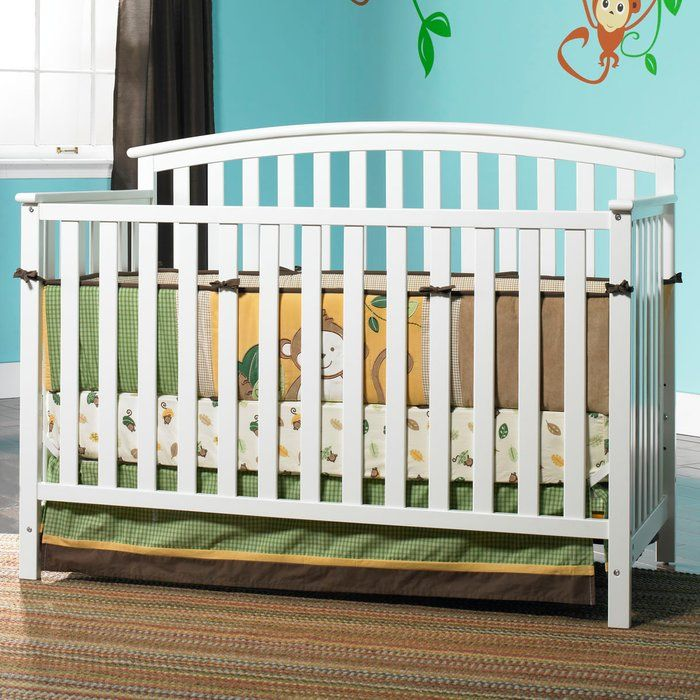Carefully crafted, the 4-in-1 Freeport Convertible Crib is simple and functional. It practical design provides a transitional look for your nursery. It features stationary side rails for a safe sleeping environment for baby with a mattress platform that adjusts to three different heights depending on the age of your baby. This crib transitions easily to a toddler bed needed for, daybed and full-size headboard.