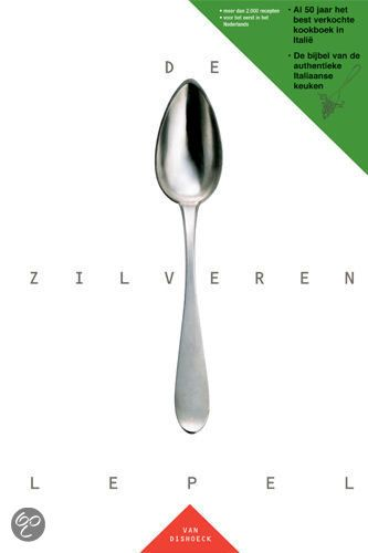 De zilveren lepel - The silver spoon. De Zilveren Lepel is de bijbel van de authentieke Italiaanse keuken. Het is al 50 jaar het best verkochte kookboek in Italië en bevat zowel de traditionele gerechten als ook menu's van gevierde chef-koks. De Zilveren Lepel  is met 2.000 recepten een onmisbare klassieker voor iedereen die van goed eten houdt.