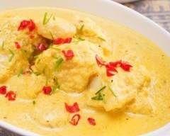 Mijoté de poisson curry et lait de coco (facile, rapide) - Une recette CuisineAZ
