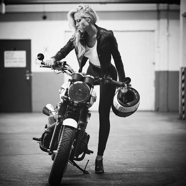 Anchor & Bolts #motorbike #girl