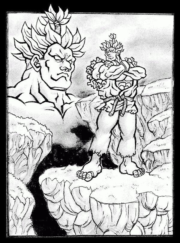 FAN ART: Entintado de AKUMA-GOUKI de Street Fighter [Con Brazos cruzados] por EKN   EKN: Mis Dibujos de Anime Manga