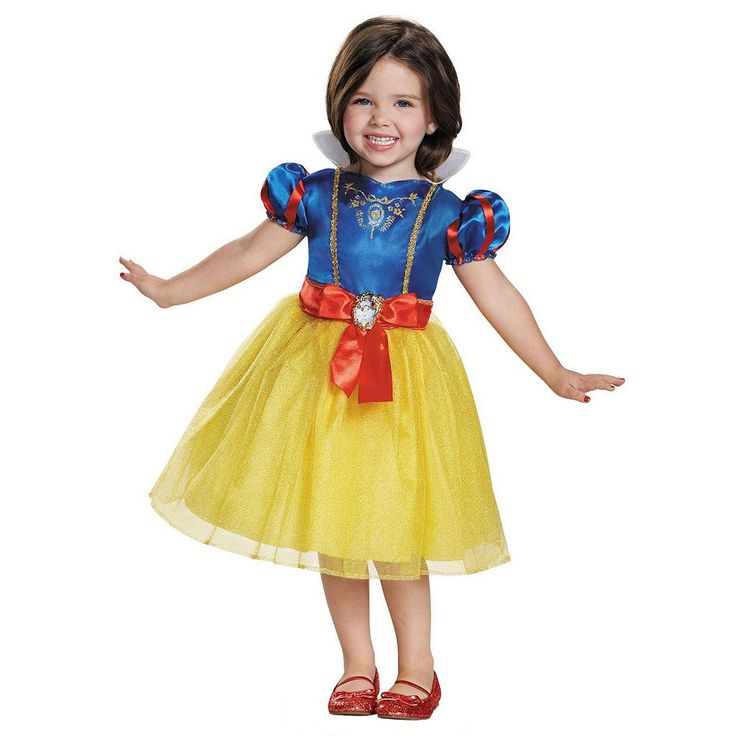 Disney Princess Snow White Costume - Toddler, Girl's, Size: 3T-4T, Multicolor