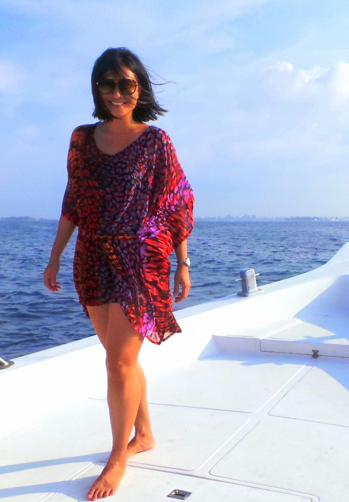 Jean from Holy Smithereens Travel wearing our Enchantment Kaftan in the…