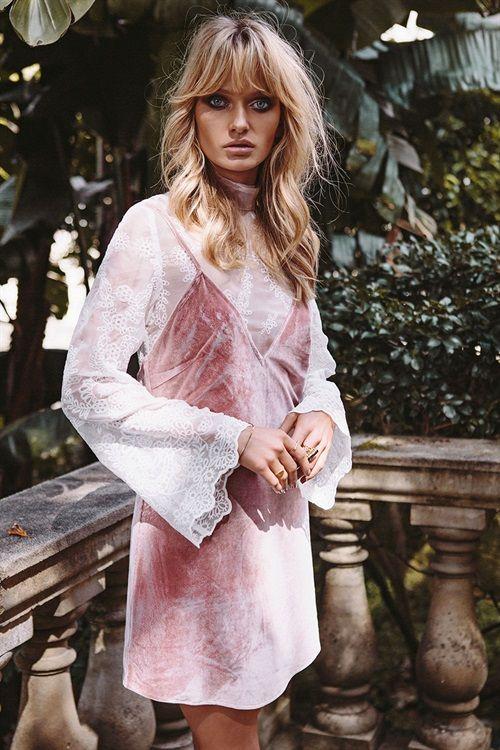 Velvet Slip Dress #SaboLuxe