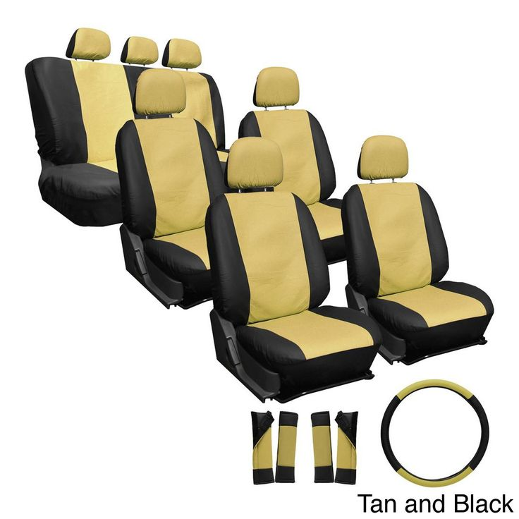 Oxgord Synthetic Faux Leather 23 Piece Truck And Van Seat Covers Solid Black