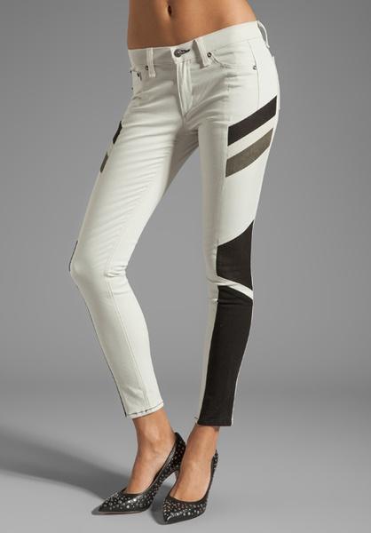 Rag & Bone white halifox legging