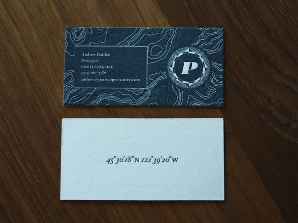 214 best business card design images on pinterest business card awesome meeting of classic and modern in letterpressed business cards periscope creative rebranding by darrin crescenzi colourmoves