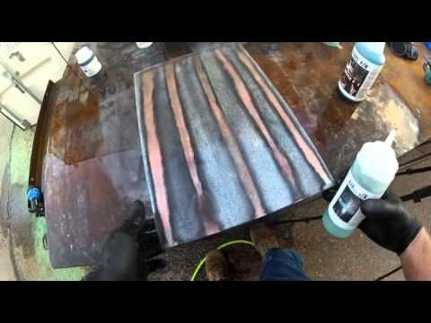 Steel f x patinas on galvanized steel part 2 youtube for Galvanized metal sheets for crafts