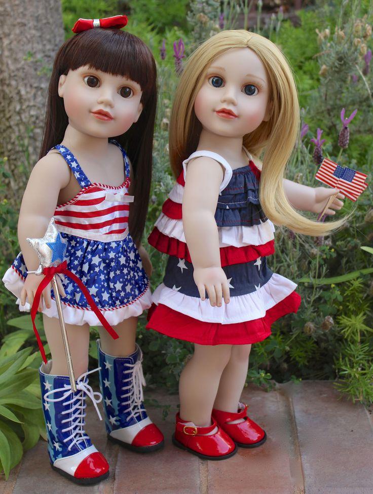 18 inch dolls. Fashions that fit American Girl. Visit www.harmonyclubdolls.com