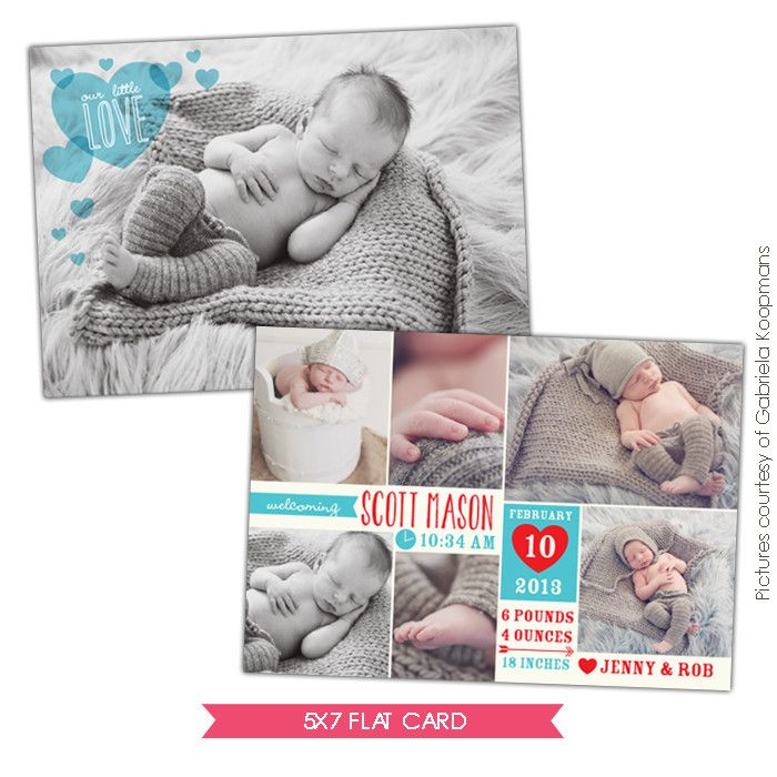 Valentine Birth Announcement template