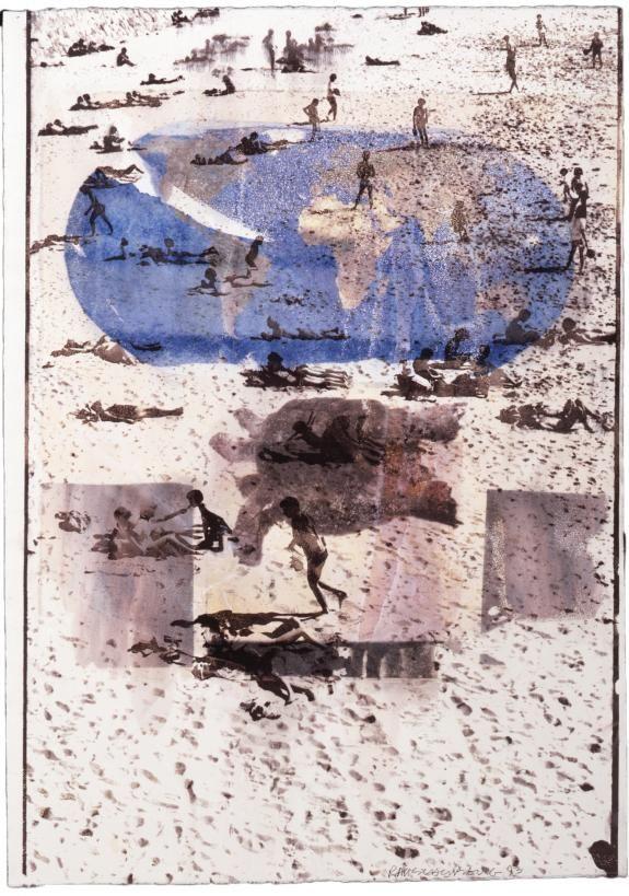 Original art for United Nations International Conference on Population and Development print (Waterworks)   Robert Rauschenberg Foundation