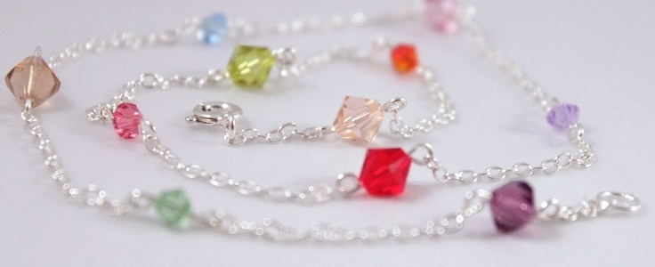 Handmade with *CRYSTALLIZED™ - Swarovski Elements* and sterling silver findings.  FREE shipping within Europe!  $37