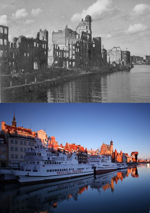 Gdańsk dawniej i dziś na unikatowych fotografiach - Poznaj Polskę
