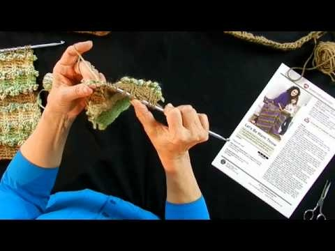 Learn to Crochet with Double End Hook and Red Heart - Part 2
